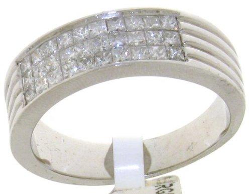 bague homme or blanc 585 1000 et diamant brillant carat i i1 8 grammes taille 60 5. Black Bedroom Furniture Sets. Home Design Ideas