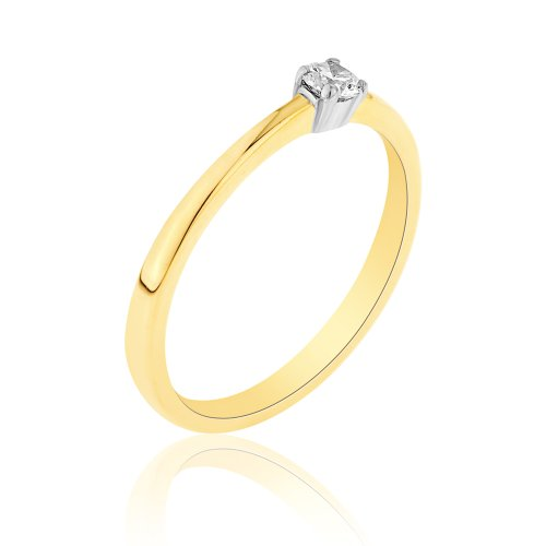 bague solitaire 9 rd1050di 10 femme or jaune 9 carats gr diamant 0 1 cts t 60 5. Black Bedroom Furniture Sets. Home Design Ideas