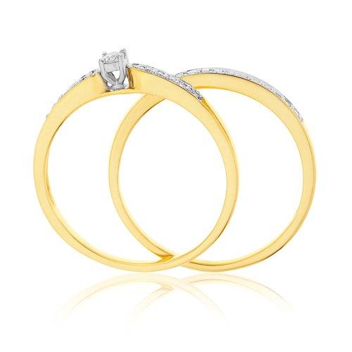 -Bague-de-fianailles-et-alliance-Femme-Or-jaune-9-cts-365-Gr-Diamant ...